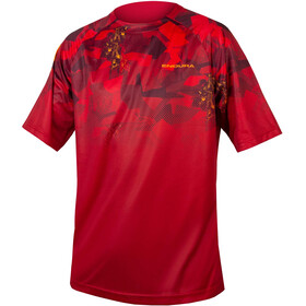 Endura SingleTrack Print - Maillot manches courtes Homme - rouge
